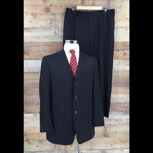 Daniel Cremieux Collection Men's Pinstripe Suit
